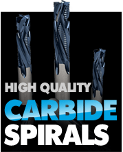 quality carbide spiral routers
